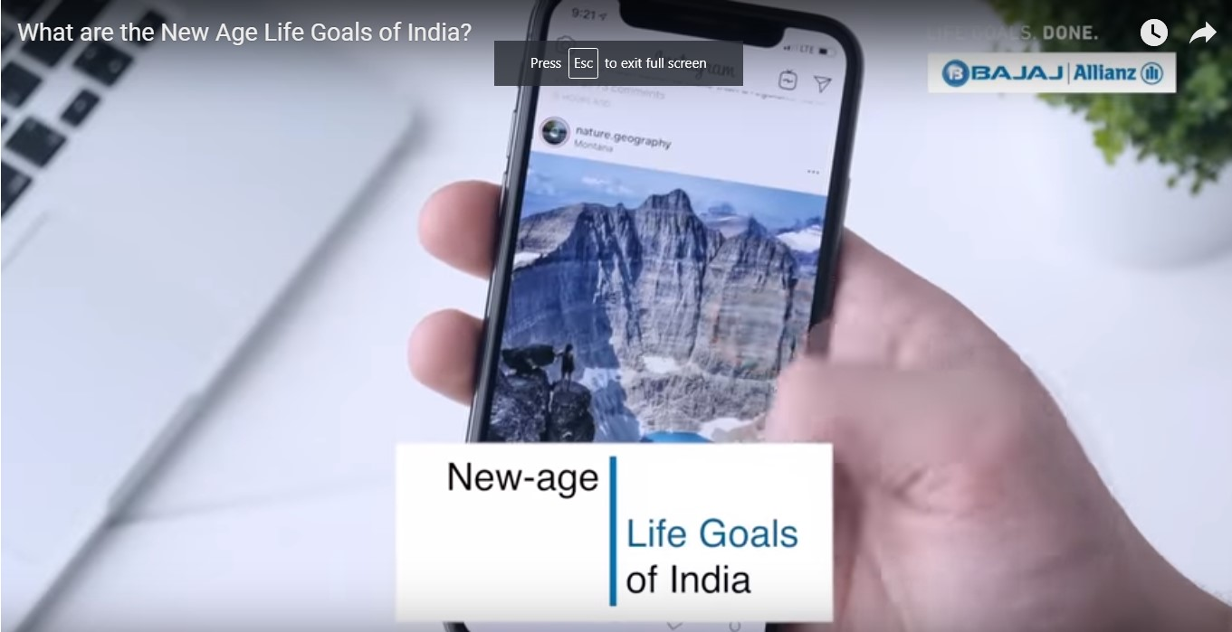 What are the New Age Life Goals of India?